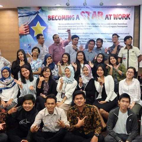 "Public Training ""BECOMING A STAR AT WORK"", 17 April 2018, Jakarta Design Center (JDC), Slipi Jakarta."