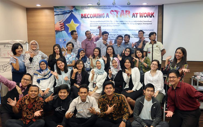 "Public Training ""BECOMING A STAR AT WORK"", 17 April 2018, Jakarta Design Center (JDC), Slipi Jakarta."