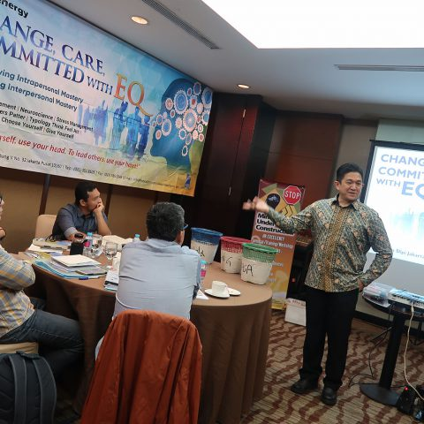 """Change, Care, Committed with EQ"" for PT Petro Energy Leader, Hotel Santika Premiere, 2 Mei 2018."