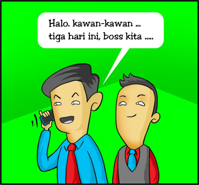 Marx in Corp Comic Series: Boss Sakit !