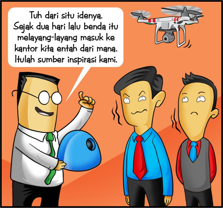 Marx in Corp Comic Series: Drone
