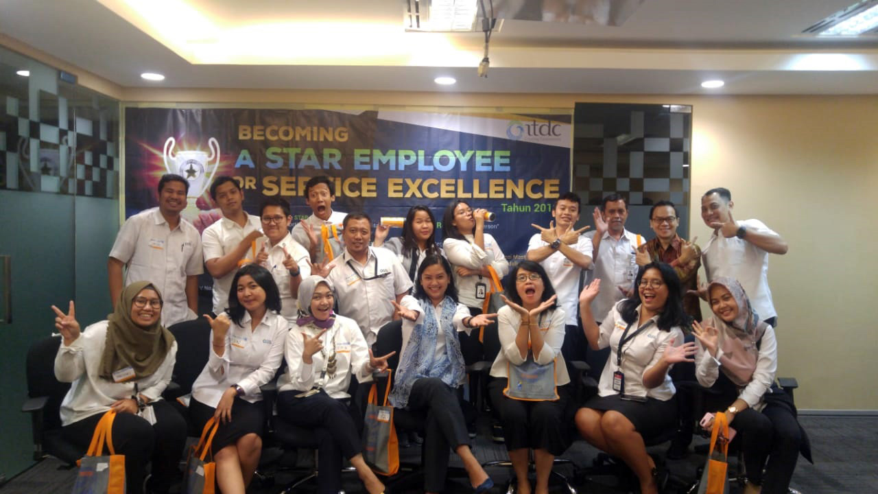 """Becoming A Star Employee For Service Excellent """"ITDC Jakarta Office Angkatan IV"""" 31 Juli 2018"""