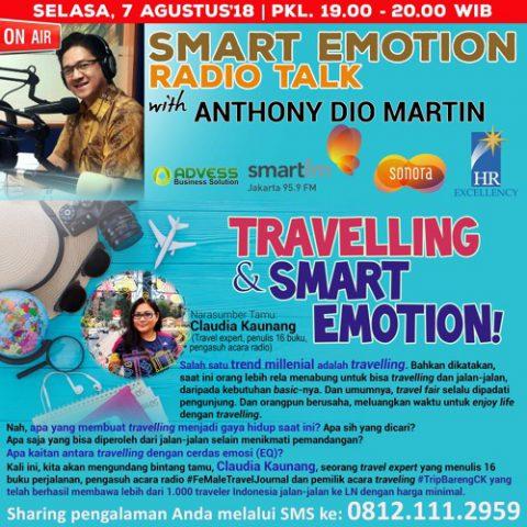 "Smart Emotion: Narasumber Claudia Kaunang ""TRAVELLING & SMART EMOTION!"""