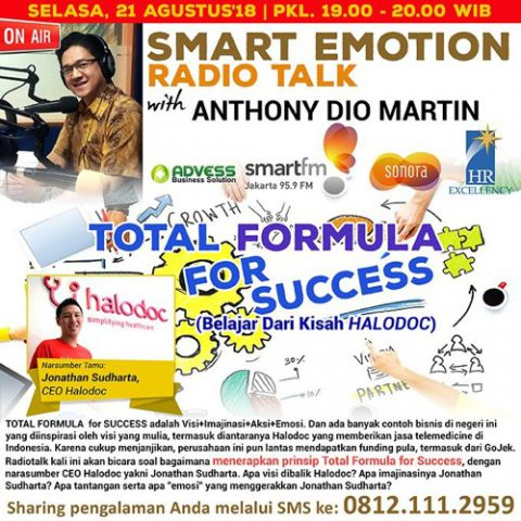Smart Emotion: TOTAL FORMULA for SUCCESS (Belajar Dari Kisah HALODOC)