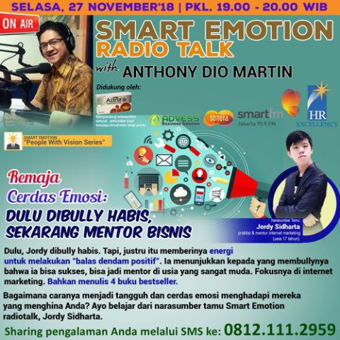 """Smart Emotion: """"Remaja Cerdas Emosi: Dulu Dibully Habis, Sekarang Mentor Bisnis"""""""