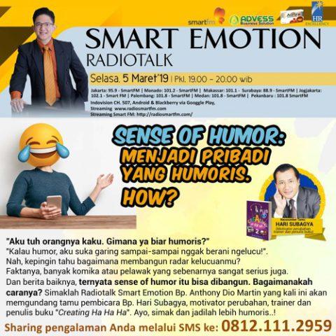Smart Emotion: SENSE of HUMOR : MENJADI PRIBADI YANG HUMORIS. HOW ?