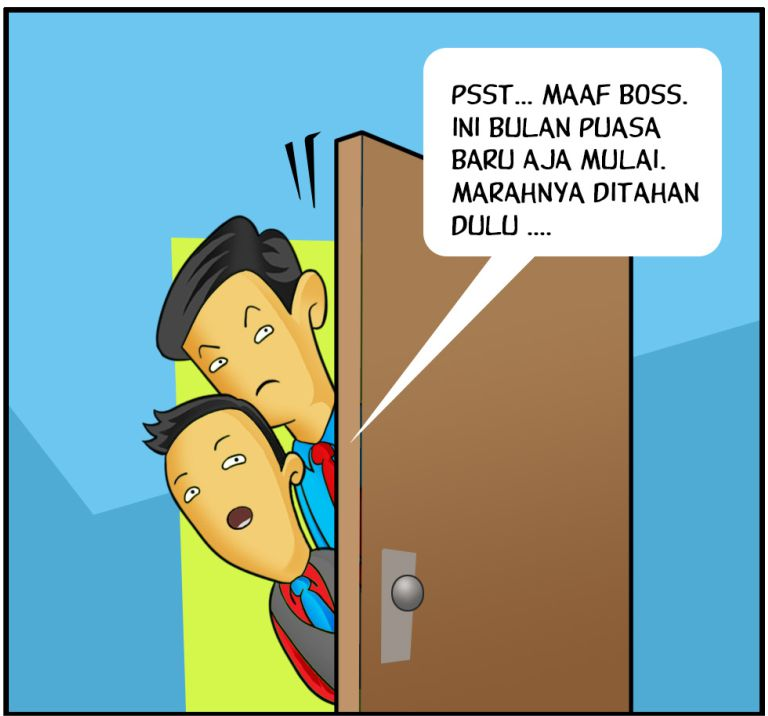 Marx in Corp Comic Series: Puasa!