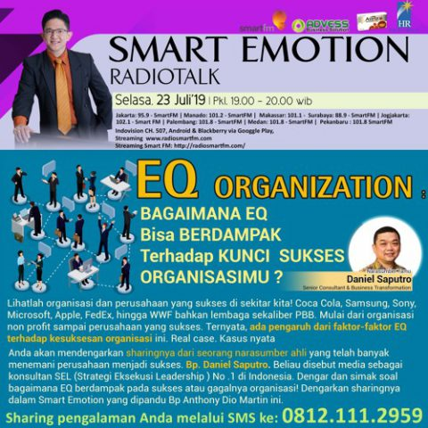 "Smart Emotion: ""EQ Organization"" Bagaimana EQ Berdampak Trhdp Kunci Sukses Organisasimu?"