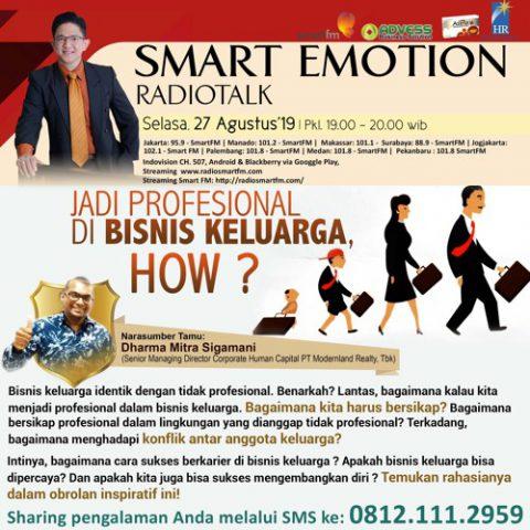 Smart Emotion: JADI PROFESIONAL DI BISNIS KELUARGA, HOW ?