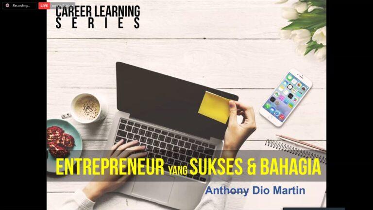 "Live Event ""Entrepreneur Sukses & Bahagia"", 16 Januari 2021 Jobseekers Membantu Jobseekers (JMJ)"