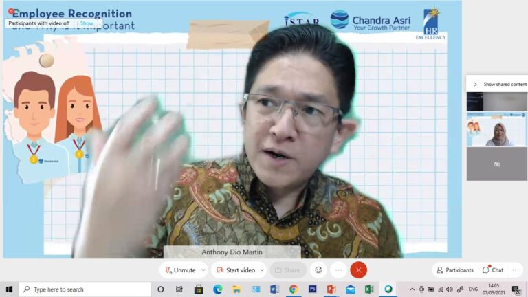 """""""Employee Recognition: And Why Is It Important"""", PT Chandra Asri Petrochemical, 7 Mei 2021"""