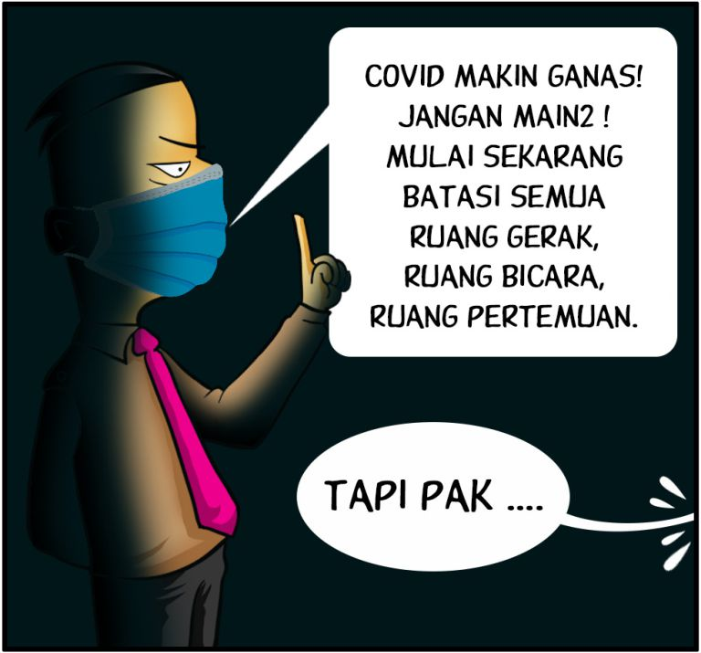 Marx in Corp Comic Series: Covid